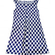 Stock Photo: Empire line polkdots tank dress