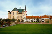 Piarist monastery with the church in Litomysl, Czech Republic — Stock Photo