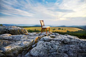 Chair on top of a mountain — Stock Photo