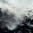 Violent white waves — Stock Photo