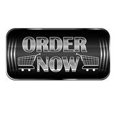 'Order Now' black web button in english — Stock Vector