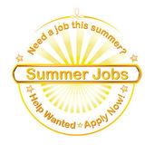 Summer jobs label — Stock Vector