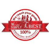Business Vector rubber stamp  Satisfaction Guaranteed — Stock vektor