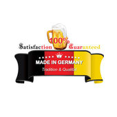 German Beer label with flag the of Germany — Stock Vector