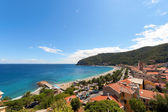 Lookout of Noli, a Medieval town on ligurian coasts — Stock Photo