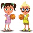 Basketball kids — Stock Vector #26609183