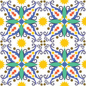 Mediterranean tile — Stock Vector