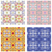 Traditional mediterranean patterns — Stock Vector