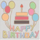 Hand-made birthday card — Stock Vector