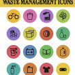 Stock Vector: Waste sorting icons