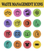 Waste sorting icons — Stock Vector