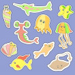 Sealife stickers — Stock Vector #39936363