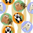 Cute seamless pattern with animals — Stock Photo #40694073