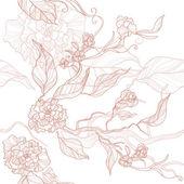 Nahtlose floral Hintergrund mit Blumen und Blätter — Stockvektor