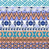 Seamless pattern in aztec style — Vector de stock