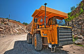 Heavy building bulldozer quarry,car (HDR) — Stock Photo