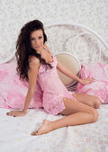 Photo of beautiful girl in lingerie — Stock Photo