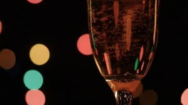 Glass of champagne — Stock Video