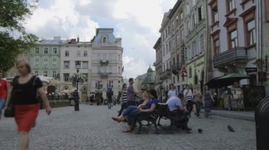 Center of Lviv — Stock Video