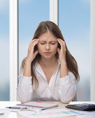 Woman thinking — Foto de Stock