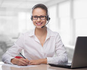Businesswoman talking on the phone,operator — Stock Photo