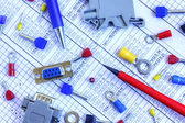 Electrical components — Stock Photo