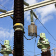 Stock Photo: High voltage substation