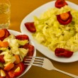 Salad with aperitif — Stock Photo