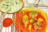 Delicious food in restaurant — Stock Photo