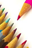 Izole renkli kalemler — Stok fotoğraf
