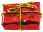 Röd presentask — Stockfoto