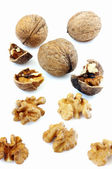 Walnuts isolated — Stock Photo