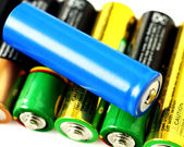 Collection of batteries — Stockfoto