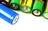 Collection of batteries — Stock Photo