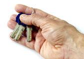 Klucze w ręku — Zdjęcie stockowe