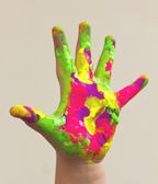 Colorful hand — Stock Photo