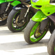 Front motorcycles wheels — Stock Photo