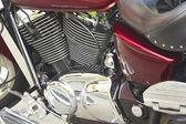 Shiny motorcycle engine — Stockfoto