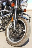 Vordere motorrad rad — Stockfoto