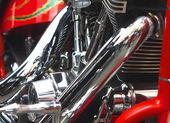 Shiny motorcycle engine — Stock Photo