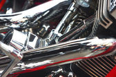 Shiny motorcycle engine — Stockfoto