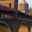 Royalty-Free Stock Photo: Pavia (Italy) - Covered Bridge and Santo Stefano Cathedral
