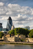 Panoramic view of Tower of London — Stock Photo