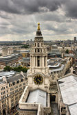 London - Panoramic view from Saint Paul Cathedral — Stock Photo