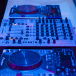 Dj mixer at a nightclub — Stock Photo