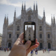 Photographing the Duomo of Milan — Stock Photo