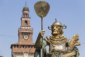 Sforza Castle in Italy — Stock Photo