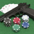 Playing illegal gambling — Stock Photo