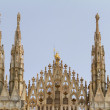 Close-up of spires of Duomo of Milan (Italy - Site of Expo 2015) — Stock Photo