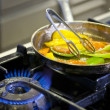 Stock Photo: Cooking on gas
